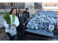 Edirne'de Halka Ücretsiz 3 Bin Fidan Dağıtıldı