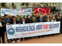 """Taşeron İşçilerden """"Kadro"""" Eylemi"""