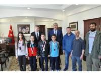 Tekvando Takımında Kaymakam Karahan'a Ziyaret