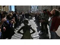 New Yorklular 'Korkusuz Kız'ı Sevdi