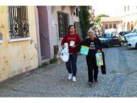 Ayvalık'ta Genç Kızdan Yoksul Ailelerin Bebekleri İçin Örnek Kampanya