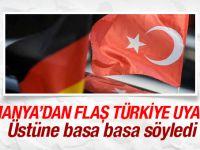Almanya'dan Flaş Türkiye Uyarısı geldi! İşte o Açıklama