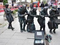 Urban Fest Üsküp'te Uluslararası Canlı Heykel Festivali Düzenledi