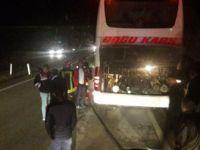 Kastamonu, Tosya Yolcu Dolu Otobüste Yangın Paniği