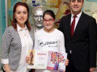 Makedonya Bitola'da Özel Sanko İlkokulu Öğrencisi İrem Aydın'a ödül