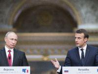 Fransa Cumhurbaşkanı Macron İle Putin Görüştü