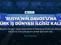Rusya'nın Davos'u Türkler'i çekemedi