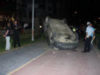 Niğde'de Kontrolden Çıkan Otomobil Takla Attı: 2 Yaralı