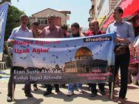 """Uşak Kardeşlik Platformu """"Kudüs Ağlarsa Uşak Ağlar"""""""