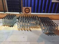 Mersin'de Bir Araçta 204 Şişe Sahte İçki Ele Geçirildi