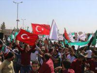 İdlib'e İntikal Eden Tsk'ya Türk Bayraklı Destek