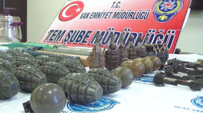 Van Polisi PKK'ya Yönelik Operasyonda Çok Sayıda Silah Ve Mühimmat Ele Geçirdi
