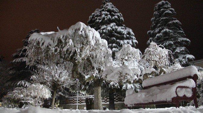 Elazığ'da Kar Yağışı Sonrası Kartpostallık Görüntüler