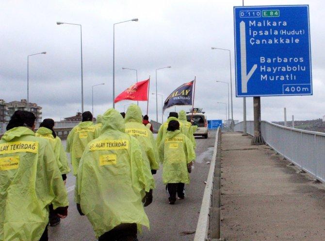 57. Alay Yürüyüş Komitesi Çanakkale'ye Uğurlandı