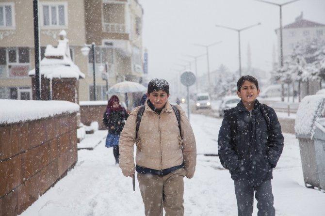 Ahlat'ta Kar Yağışı
