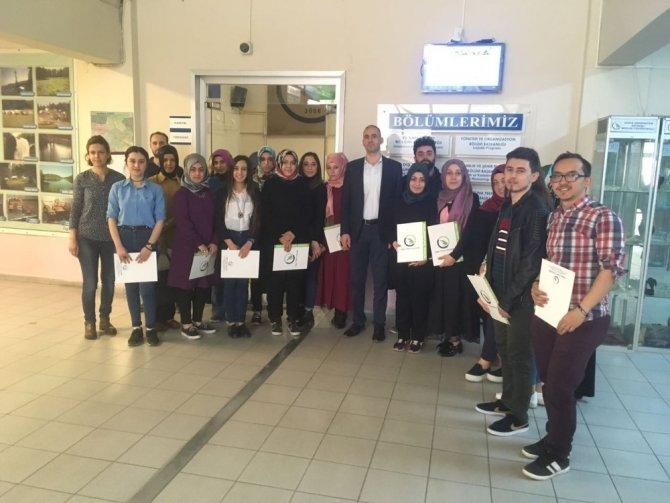 El Sanatları Bölümü Öğrencilerine Teşekkür Belgesi