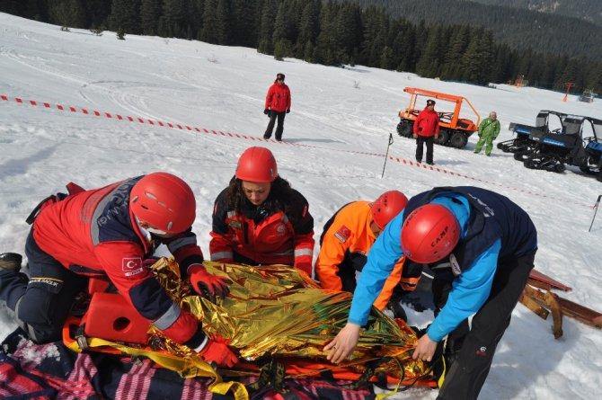 Ilgaz Dağı'nda 'Kış Kurtarma Tatbikatı' Yapıldı