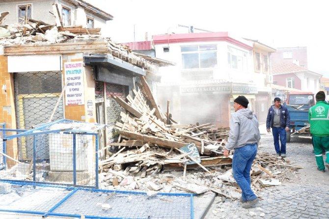 Milas'ta Eski Arasta Binası Yıkıldı