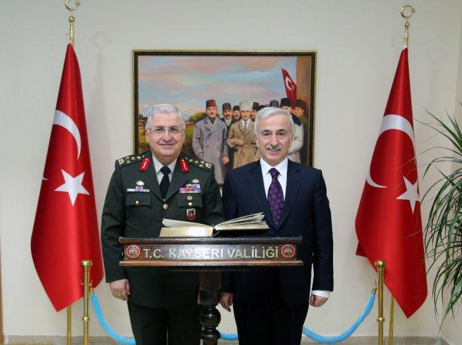 Jandarma Genel Komutanı Orgeneral Yaşar Güler Valiliği Ziyaret Etti