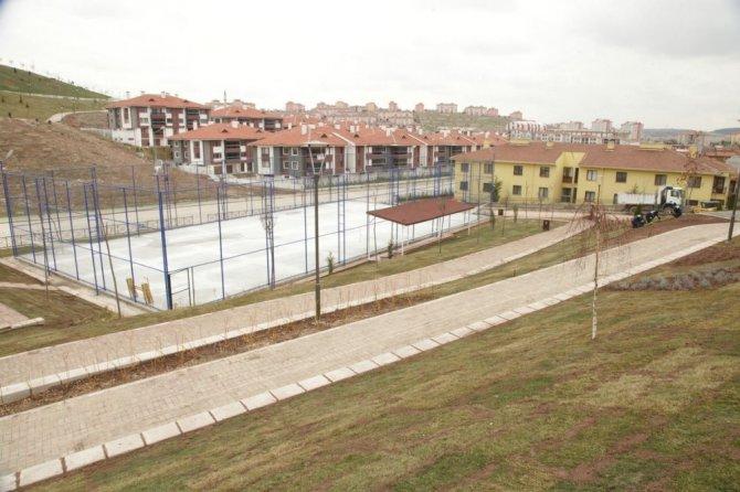Odunpazarı Belediyesi'nden Yenikent'e Spor Parkı