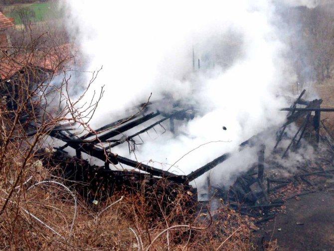 Yangın Çıkan Ev Kül Oldu