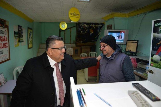 Başkan Yağcı'nın Esnafı Referandum Bilgilendirmesi Devam Ediyor