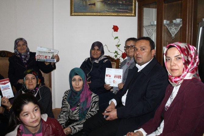 Aksaray'da Ak Parti Heyeti Ev Hanımlarıyla Buluştu