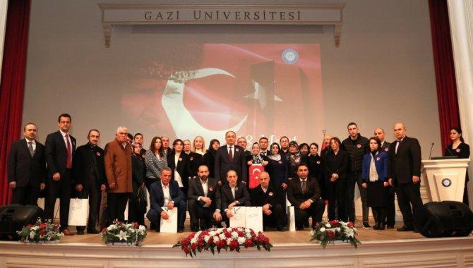 18 Mart Çanakkale Zaferi Yıl Dönümünde Gazi'li Şehitler Unutulmadı