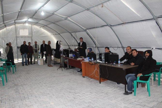 Samsat'ta Resmi İşlemler De Çadırda Yürütülüyor