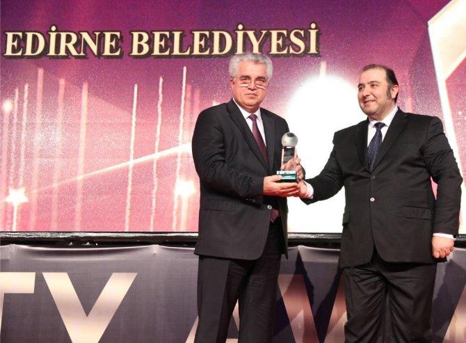 Yılın 'En Başarılı Belediye' Ödülü Edirne Belediyesi'ne