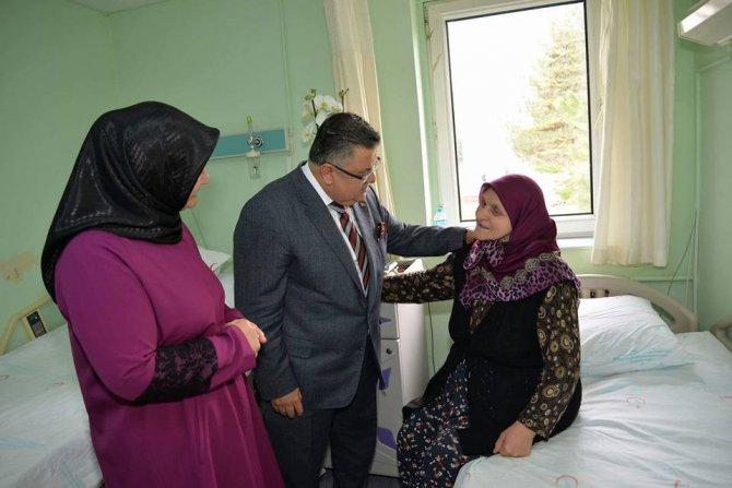 Başkan Yağcı'nın Hastane Ziyareti