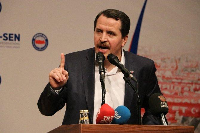 """Memur-sen Genel Başkanı Yalçın, """"Parlamenter Sistem Bu Ülkede Hep Kriz Getirmiş"""""""