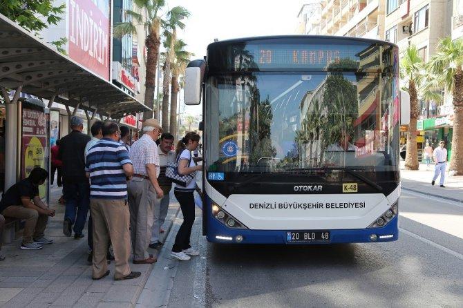 Denizli Büyükşehir Otobüsleri Cuma Günü Ücretsiz