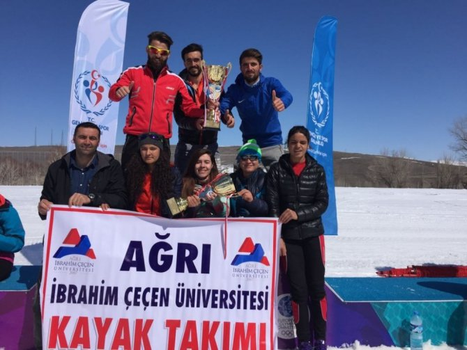 Ağrı İbrahim Çeçen Üniversitesi Öğrencileri Kayaklı Koşuda Türkiye Şampiyonu Oldu