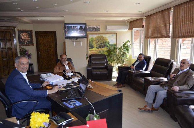 Ak Parti Yenipazar İlçe Başkanı Çağlayan'dan Başkan Yaman'a Ziyaret