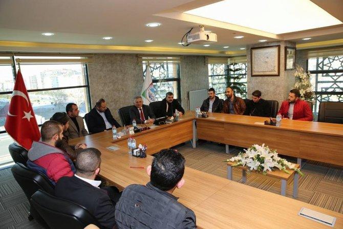 Kapalıçarşı Derneği Yönetim Kurulu Üyeleri Melikgazi Belediyesini Ziyaret Etti