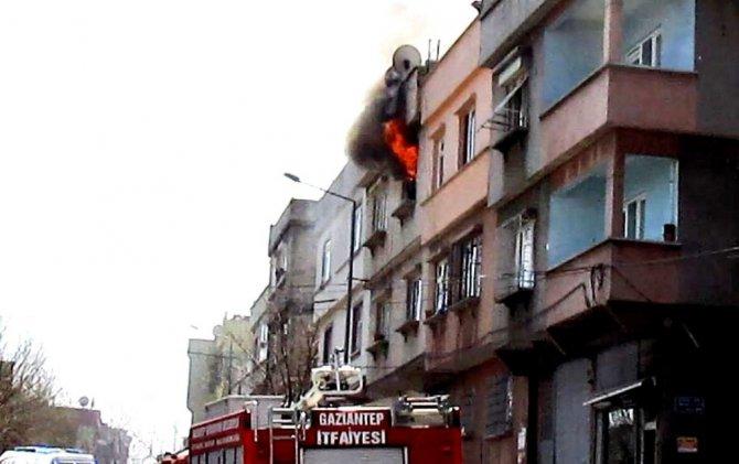 Yangında Evde Kimsenin Olmaması Faciayı Önledi