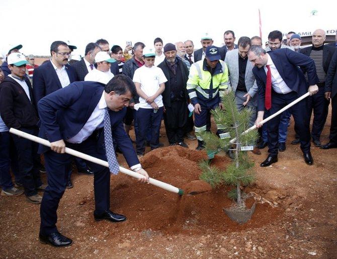 """Şehitkamil İlçesinde """"Bi Dünya Yeşil Orman"""" Projesiyle Yeni Ormanlar Kuruluyor"""