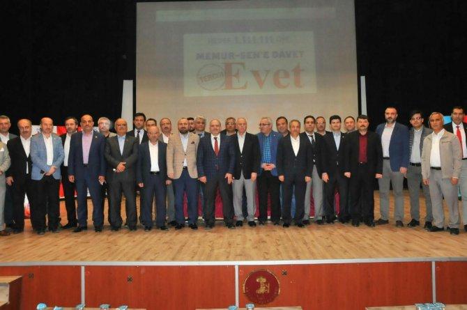 "Akşehir'de ""Memur-sen'e Davet, Tercihimiz Evet"" Programı"