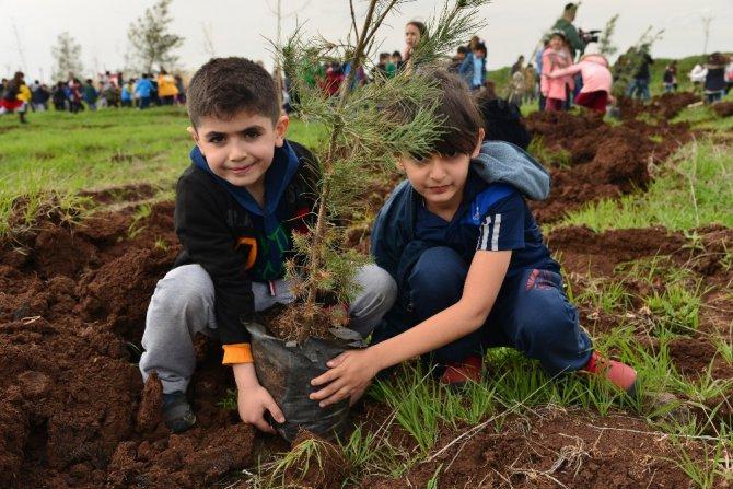 Diyarbakır'da Fidan Ekim Sezonu Minik Çocuklarla Açıldı