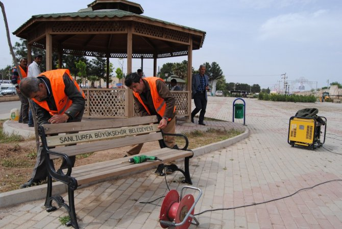 Şanlıurfa Büyükşehir Harran'da Şehit İbrahim Taş Parkını Bahara Hazırladı
