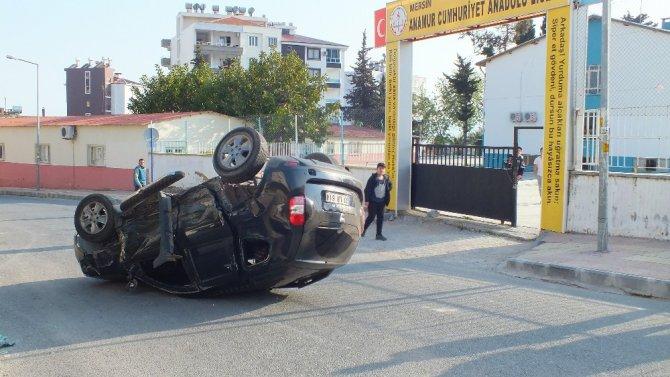 Anamur'da Trafik Kazası: 4 Yaralı