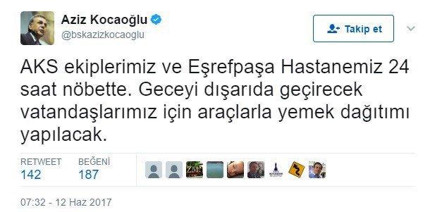 """Başkan Kocaoğlu: """"Ekipler 24 Saat Boyunca Görev Başında"""""""