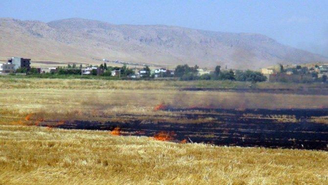 Nusaybin'de Seyir Halindeki Ham Petrol Yüklü Tankerde Yangın