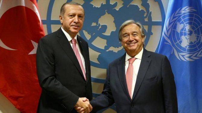 Cumhurbaşkanı Erdoğan, Guterres İle Görüştü