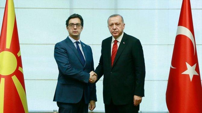 Erdoğan İle Kuzey Makedonya Cumhurbaşkanı Pendarovski  Görüştü